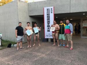 左から、坂下キャプテン、芝山選手、石井選手、村上選手、平野選手、大谷内選手兼任監督